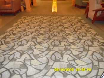 Commercial Carpet Cleaning in Lobby