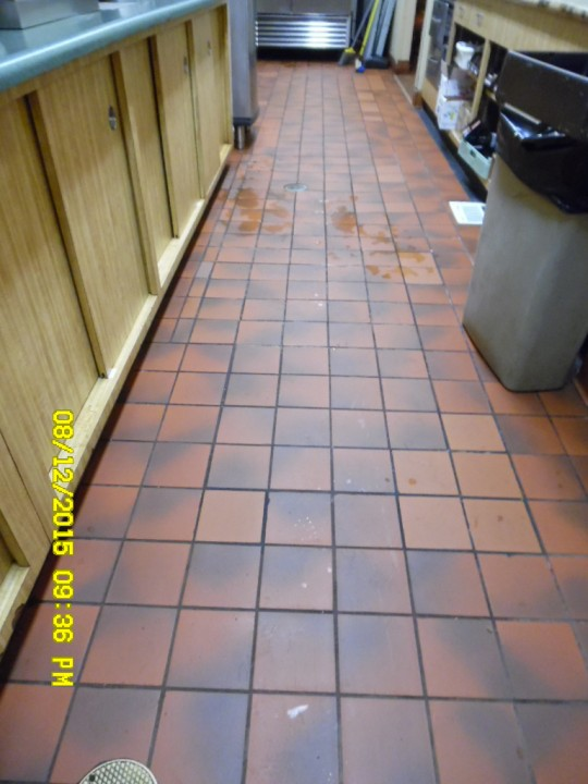 Commercial Tile & Grout Cleaning Food Service Area