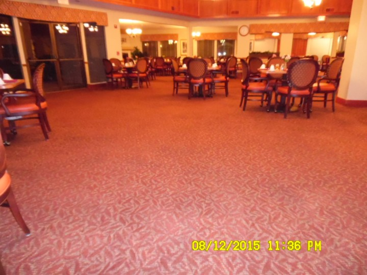 Commercial Carpet Cleaning in Dining Hall
